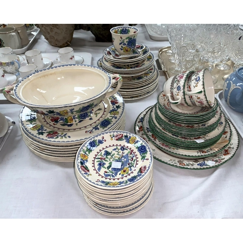 228 - A selection of Mason's Regency dinner ware (app 44 pieces; a selection of Copeland Spode Chinese Ros...