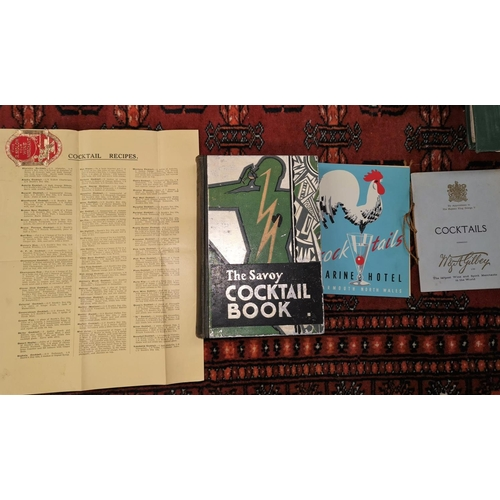 415 - The Savoy Cocktail Book, Harry Craddock, decorated boards, 1931, with further related ephemera...