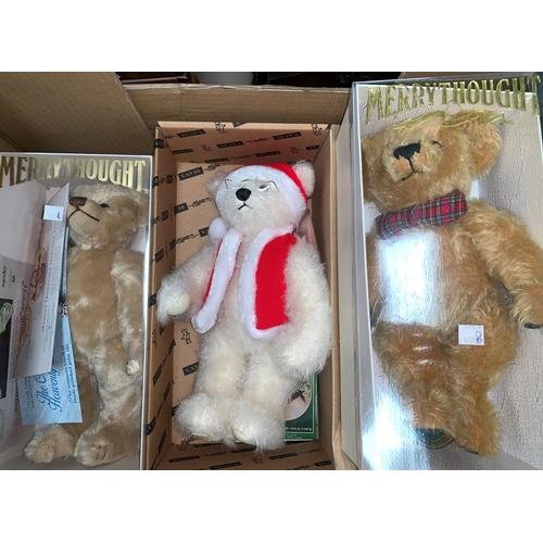 406B - Three limited edition Merrythought teddies: