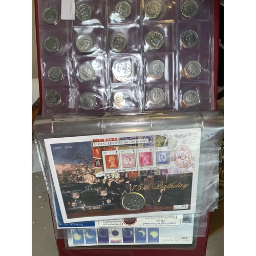 409 - Coin sets 1970-1983, 1984-90; silver £20 Churchill coin; Beatrix Potter 50p coins; etc....