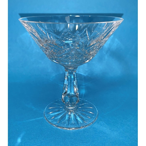156 - A Waterford Crystal set of 8 saucer champagnes / cocktail glasses...