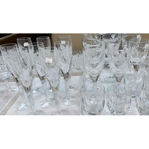 158 - A part suite of drinking glasses,