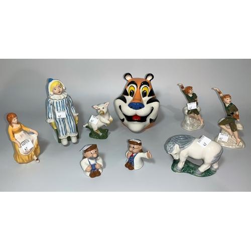 47 - 9 originally boxed Wade Collector's Club figures,