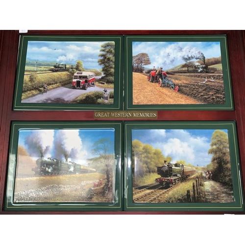 110 - A set of 4 GWR china wall plaques, a selection of china etc...