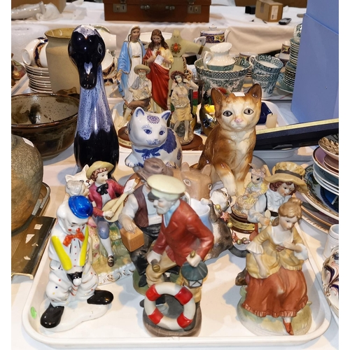 12 - A selection of china; glass and decorative items...