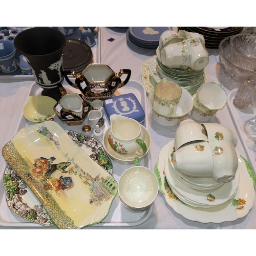 29 - A selection of decorative china including a Wedgwood black basalt vase; a quantity of teaware...