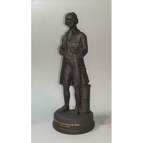 36 - A Wedgwood Black Basalt portrait figure of Josiah Wedgwood F.R.S. 1730-17905, 21 cm...