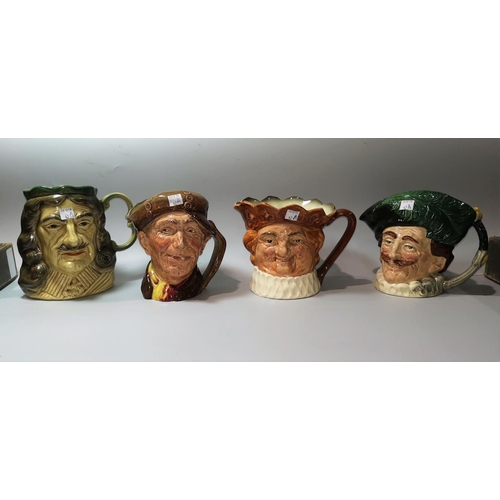 42a - Three Royal Doulton character jugs:  Old King Cole; The Cavalier & Arry; another of Charles II by Ki...