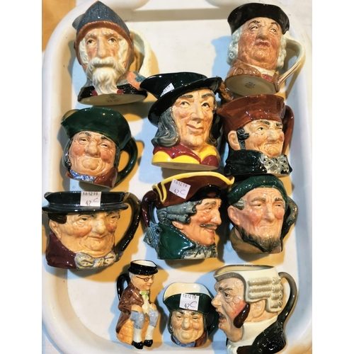 42c - Ten small Royal Doulton character jugs; and another...
