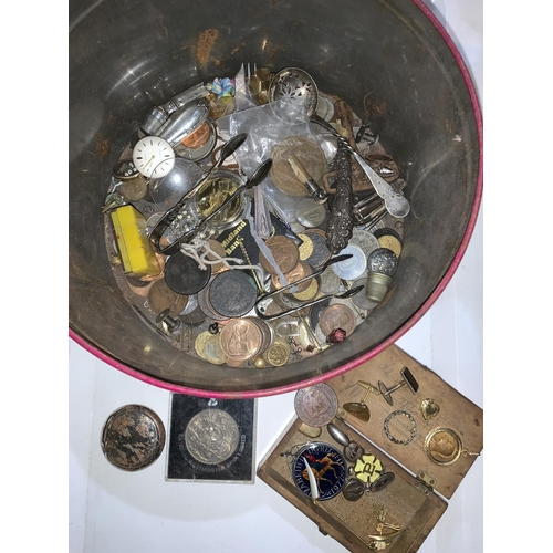 183 - A selection of coins and miscellanea...