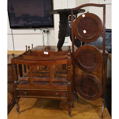 382 - A Georgian style mahogany Canterbury, 19