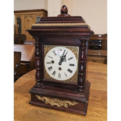460 - A Georgian style large bracket clock with strike...