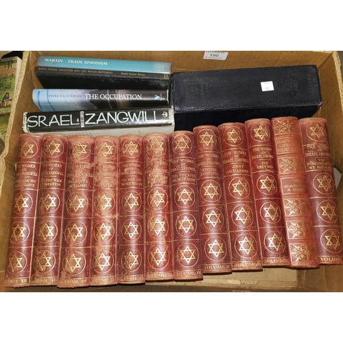 190 - A set of the Works of Israel Zangwill; other books...