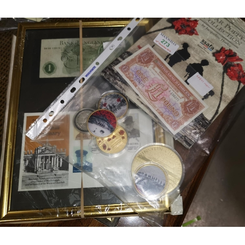 273 - Churchill coins and medallions; etc....