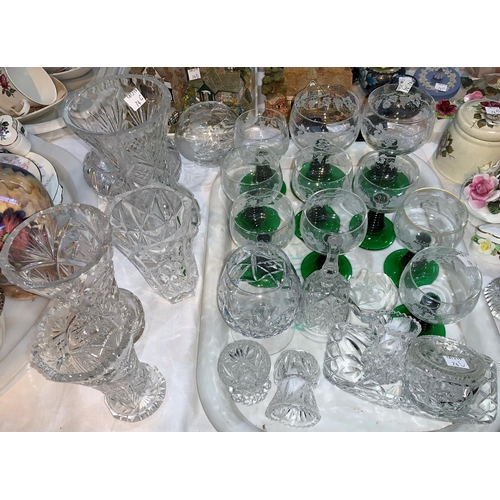 11 - A selection of cut glass; etc....