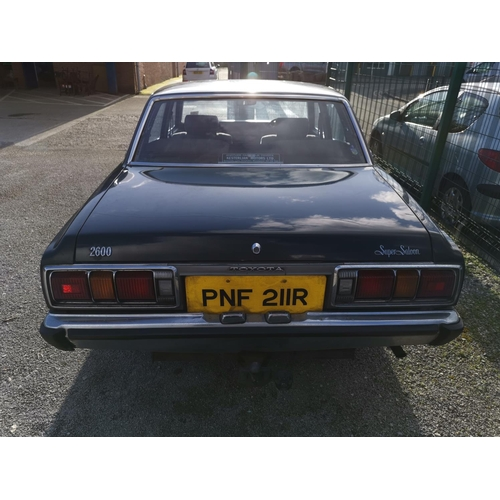 99A - TO BE SOLD AT 11.00am PROMPT MOTOR CAR: A Toyota CROWN Super Saloon 2600cc 4 door motor car, automat...