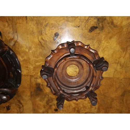 108 - Two Chinese carved hardwood stands...