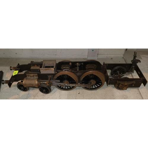 268 - A scratch built 4-4-2 steam locomotive bogey 3.5/4