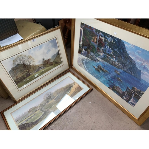 71 - Alan Ingham, 'Tranquil Valley', artist signed print, framed and glazed; a similar print; an Impressi...