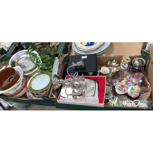 82 - A selection of encrusted and decorative china, teaware including Royal Doulton, Royal Albert etc; si...