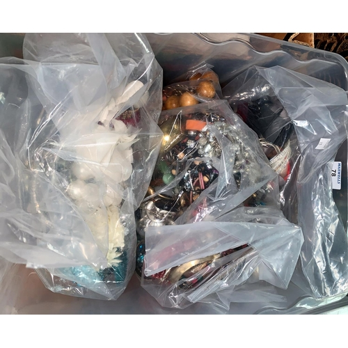 78 - a large selection of unsorted modern costume jewellery in 3 sealed bags...