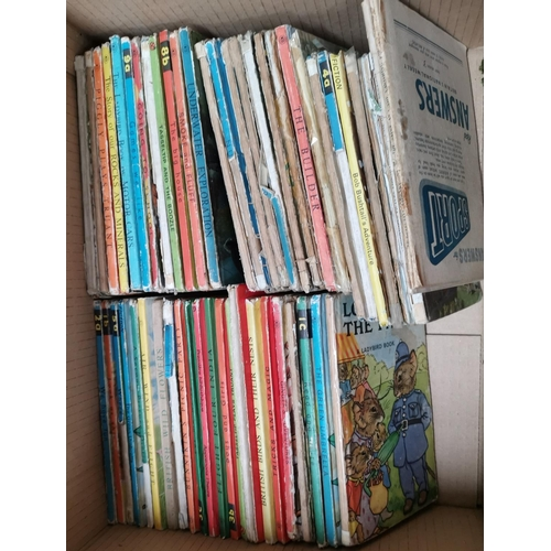 87 - A selection of Rupert books and annuals; a selection of Ladybird books etc...
