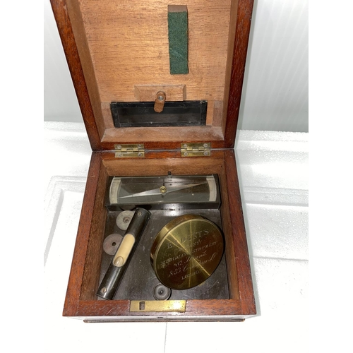 233 - A rare 19th century DIPLEIDOSCOPE signed E I Dents Patent Meridian Instrument, 82 Strand and 33 Cock...