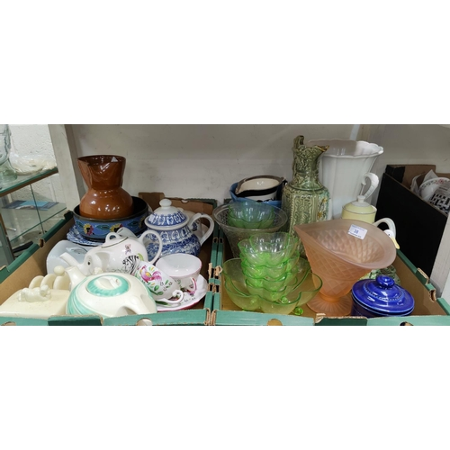 38 - A selection of decorative pottery and glassware...