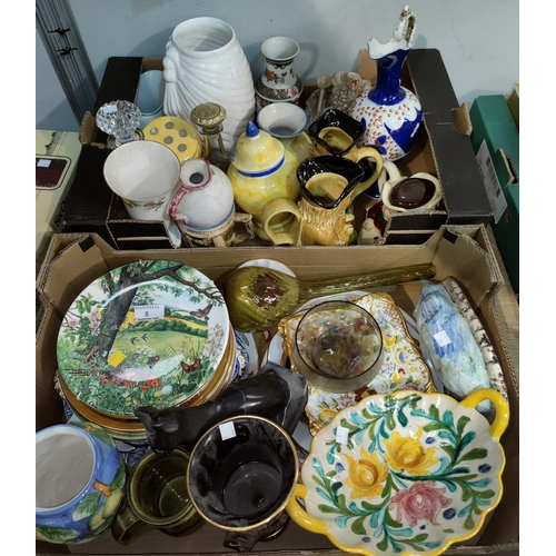 8 - A large selection of decorative plates and pottery...