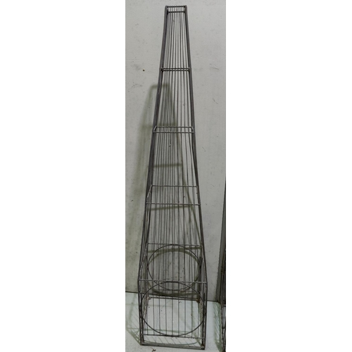 13a - A tall decorative garden pyramid shaped plant support