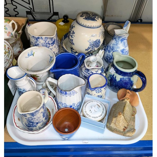 6 - A selection of tea sets and blue and white china...