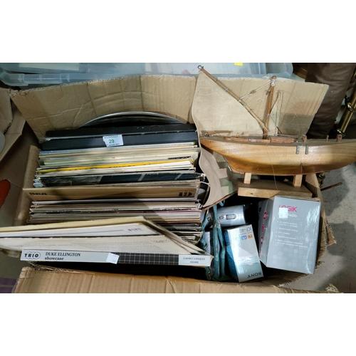 29 - A selection of LP records; transistor radios; etc....