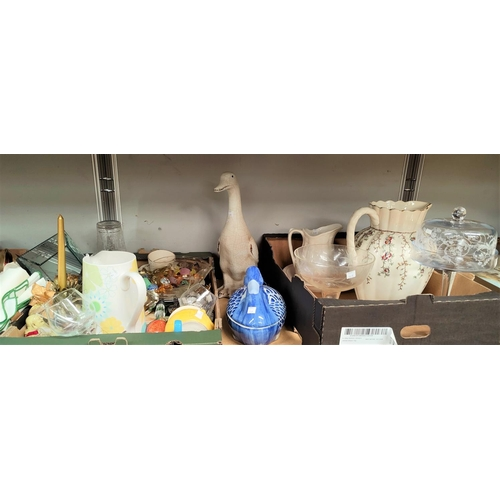 10A - Two pottery ducks and decorative items...