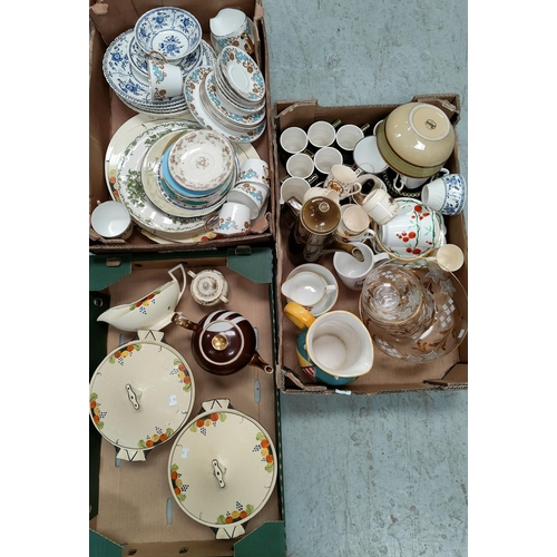 19 - A selection of dinner and teaware; drinking glasses; etc....