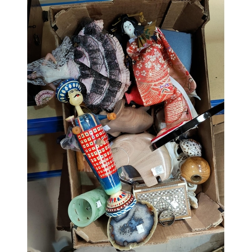 21 - A selection of decorative items:  costume dolls; etc....