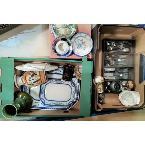 22 - A selection of decorative china; stainless steel cutlery; etc....