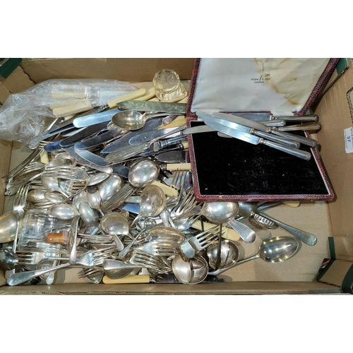 37 - A large selection of silver plated cutlery...