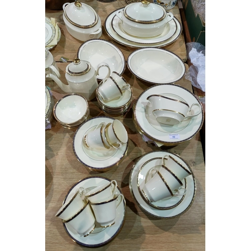 42 - A Minton St James dinner and tea service with tureens etc approx 65 peices...