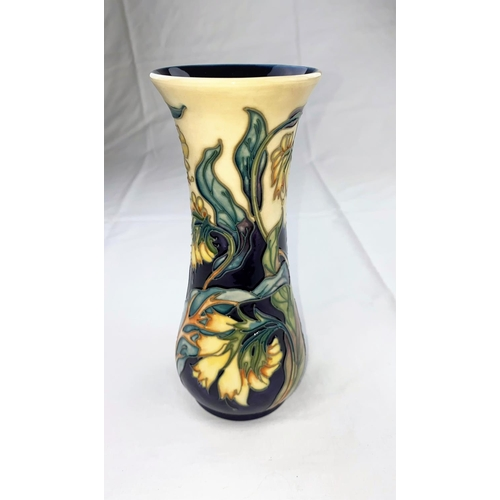 16 - A Moorcroft vase of waisted form decorated in the