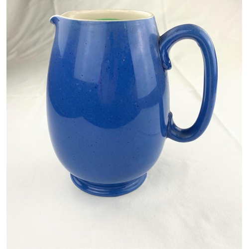 39 - Moorcroft for Liberty's a powder blue ovoid jug  impressed & monogrammed height 18.5cm