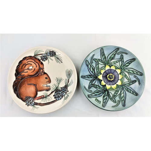 2 - 2 Moorcroft Ltd edition year plates 1992 406/500/with cert; 1995 452/500 (with cert)