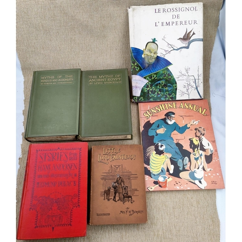 261 - EDMUND DULAC (illustrated) Stories from Hans Andersen; Myths of Ancient Egypt, another, 3 other book...