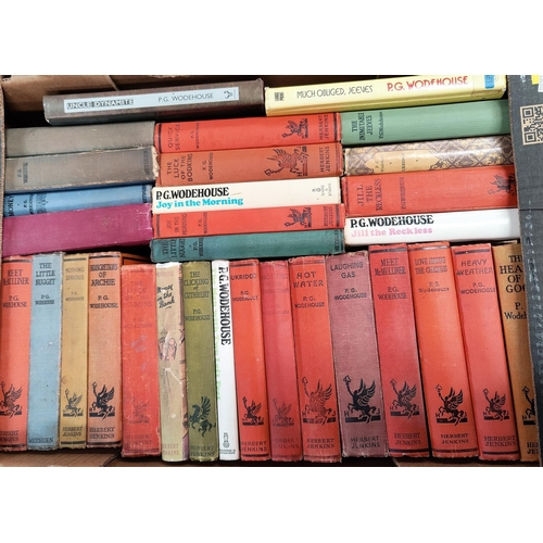 264 - A selection of P.G. Woodehouse hard backed books, mainly Herbert Jenkins publisher...