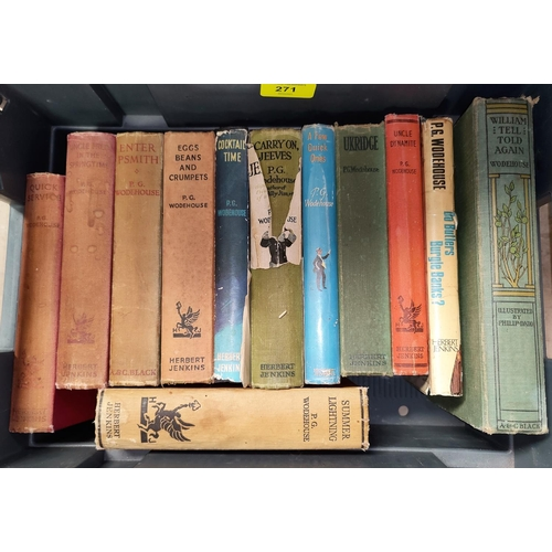 271 - A selection of P.G. Woodehouse 1st editions...