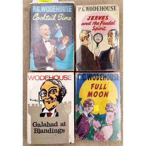275 - P.G. Woodehouse - Cocktail Time, 1st edition 1954 and 3 others all in dust jackets...