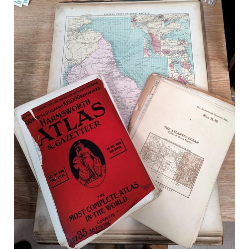277 - PHILIPS' Mercantile Marine Atlas, 2nd edition 1905, a Harmsworth Atlas in parts (both a.f.)...