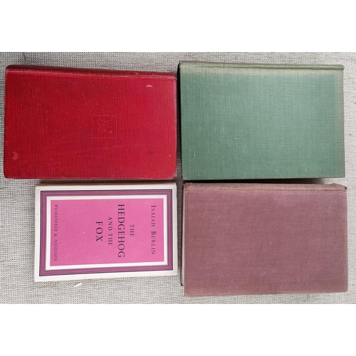291 - HYDE - Trials of Oscar Wilde 1948; Berlin - The Hedgehog and the Fox 1953; Strachey - The Course 192...