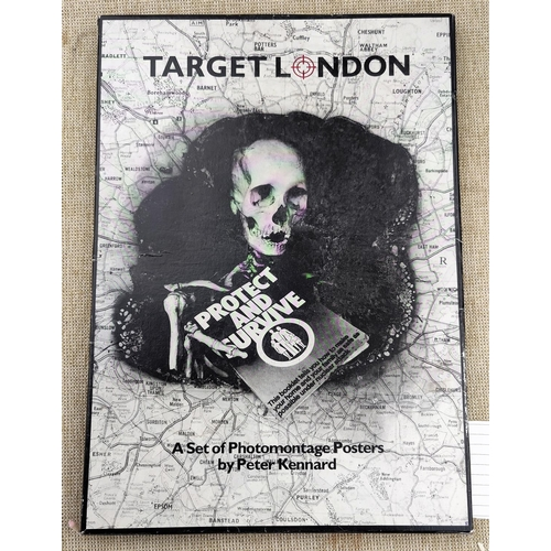 293 - KENNARD (P) - Target London, a set of Photomontage Posters, 18 sheets, 42 x 30cm hinged box, 1985...