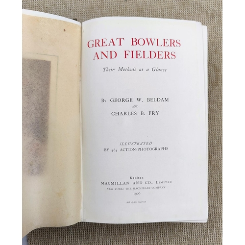 296 - BELDAM - Great Bowlers and Fielders, 1906, (front ep missing)...