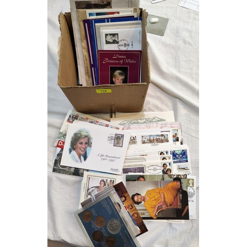 715 - A collection of Diana Princess of Wales commemorative postal covers, other similar covers...